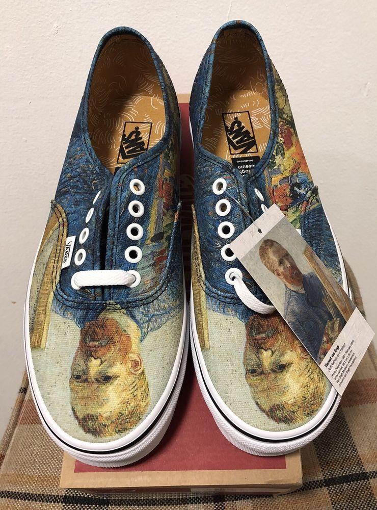Vans X Van Gogh Museum Self Portrait Men S 9 Women 10 5 Brand New 100 Authentic Vans Walkingshoes Find Great Deals For Vans X V Vans Vans Girls Vans Slip On