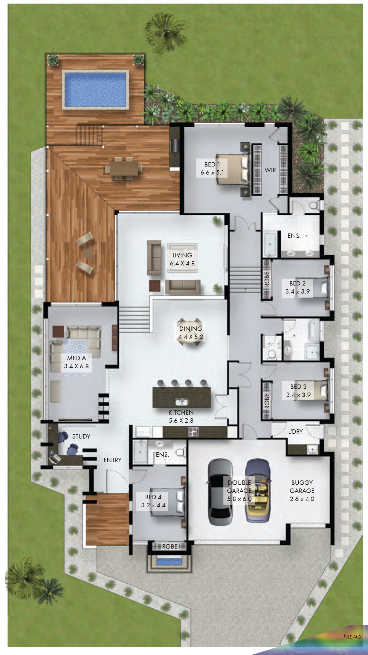 12 Abr 2017 Here S A Non Fancy 4 Bedroom Home With Study Nook And Triple Car Garage Which Would Fit On A Reas In 2020 Sims House Plans House Plans House Layout Plans