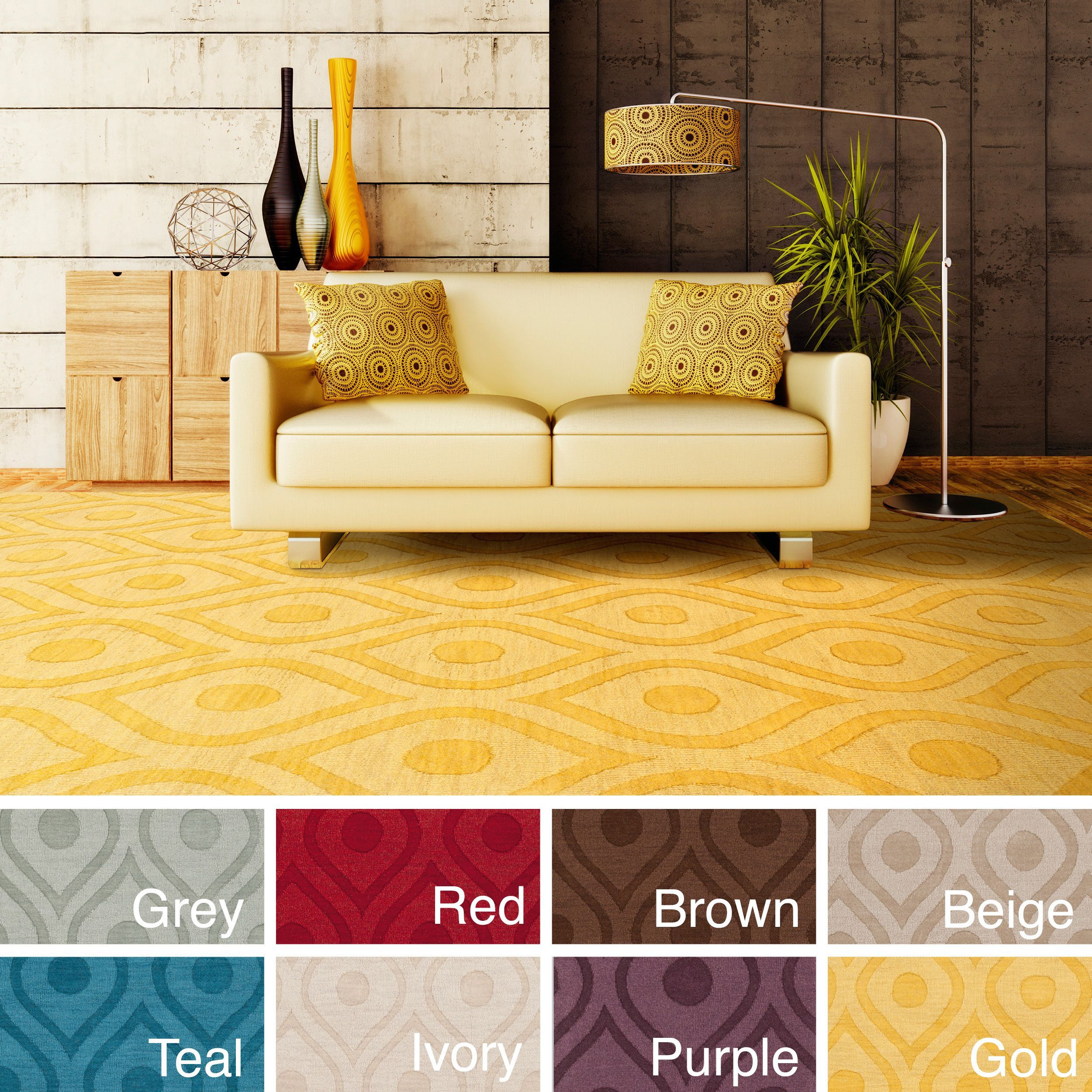 Add bold style to your decor with this tone-on-tone geometric ...