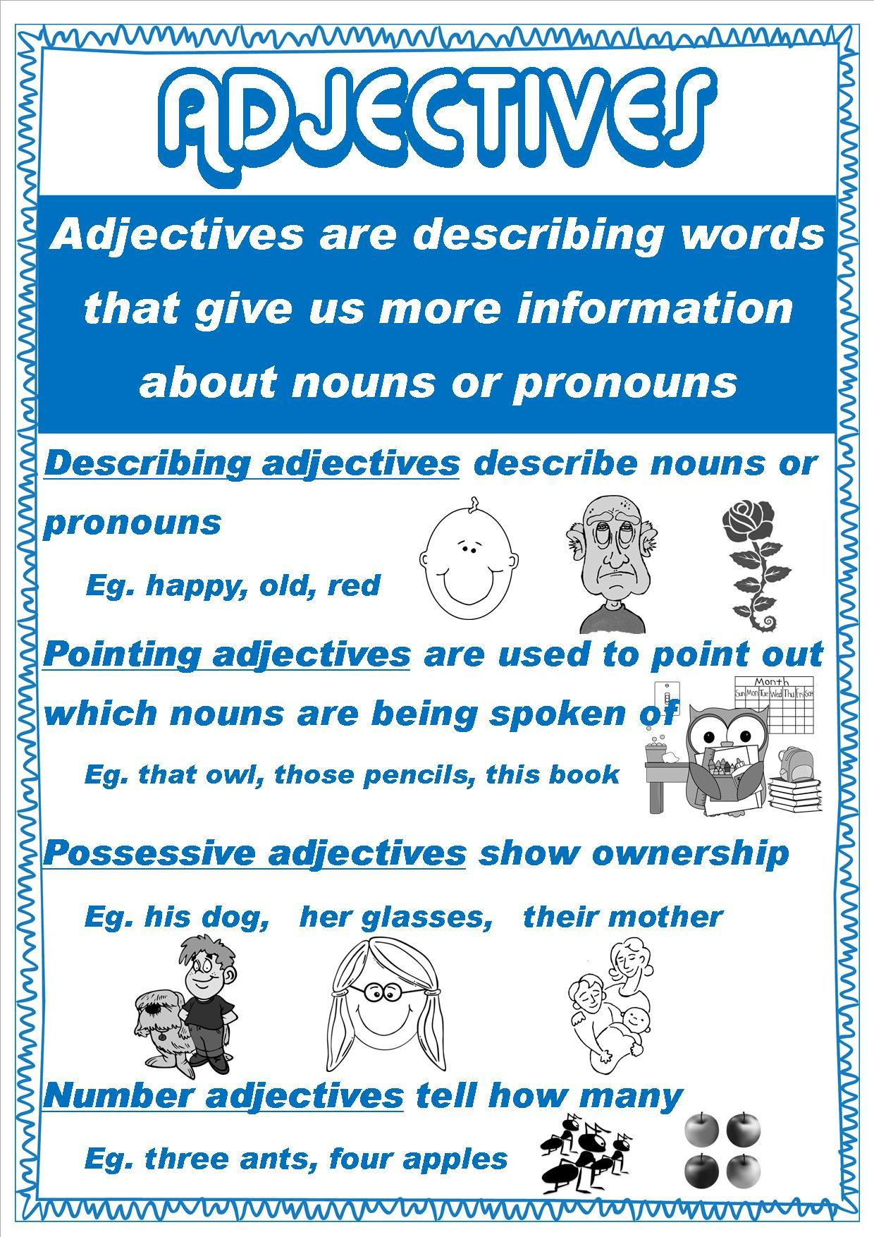 Grammar Posters For My Class This Year 4i Adjectives