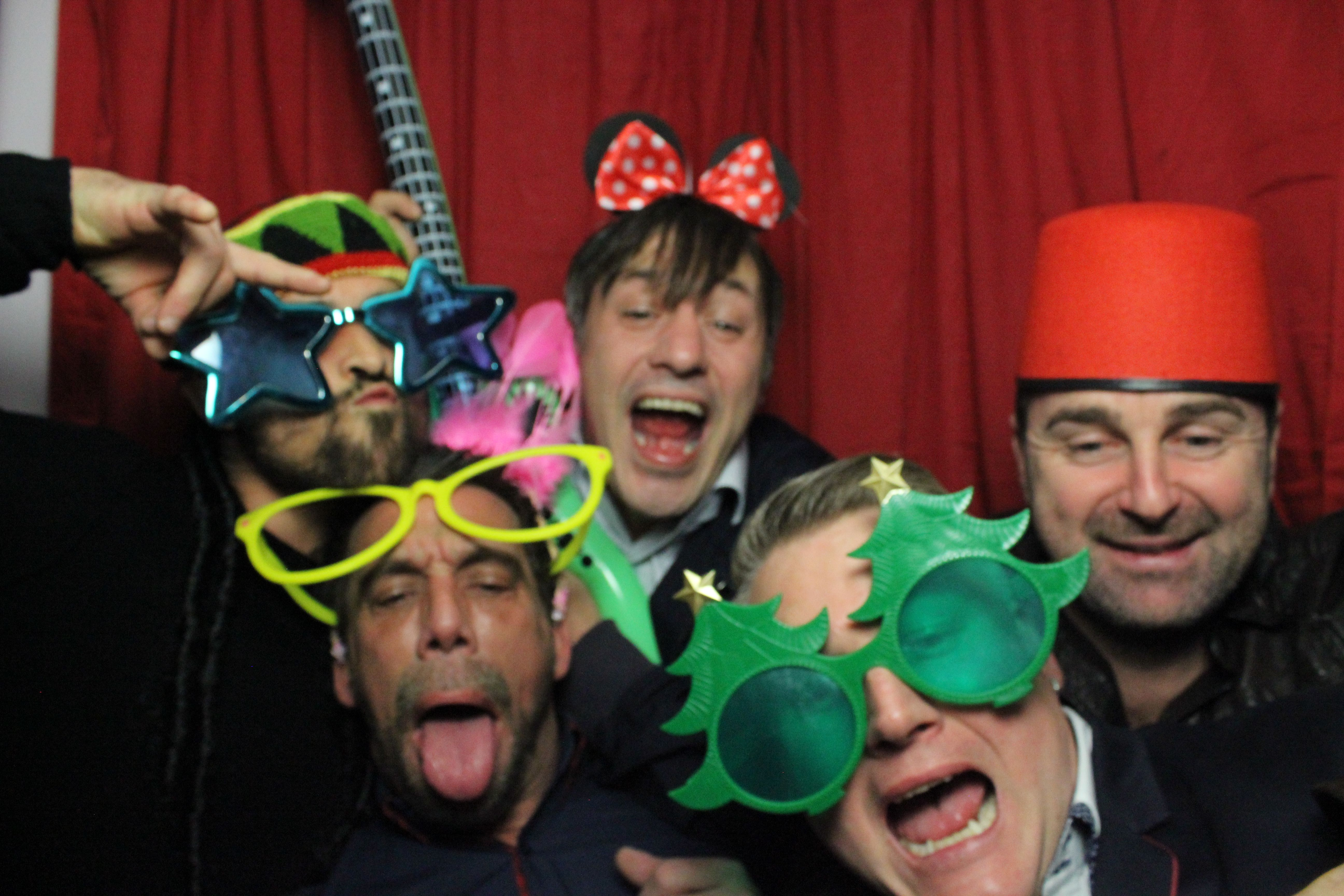 Photo booth fun pictures to preserve the memories from the night before just incase you forget!