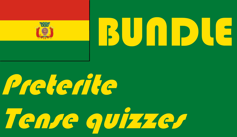 Spanish Seven Preterite Tense Quizzes Or Worksheets Bundle