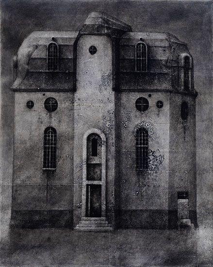 Musta Ikkuna / Black Window  Akryyli kankaalle / Acrylic on canvas, 2011  100 x 80 cm  Valokuva / photo: Mikko Auerniitty