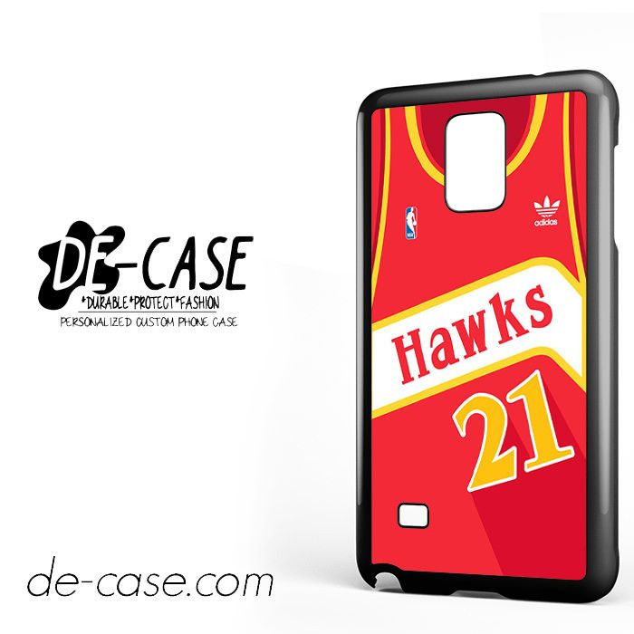 ad4be332da6 Hawks Basketball Jersey For Samsung Galaxy Note 4 Case Phone Case Gift  Present YO