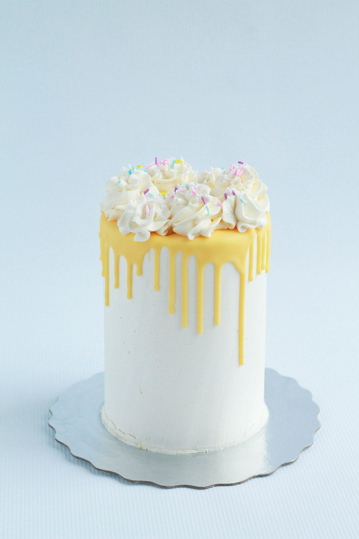 Simple buttercream yellow chocolate drip birthday cake. -   17 drip cake Yellow ideas