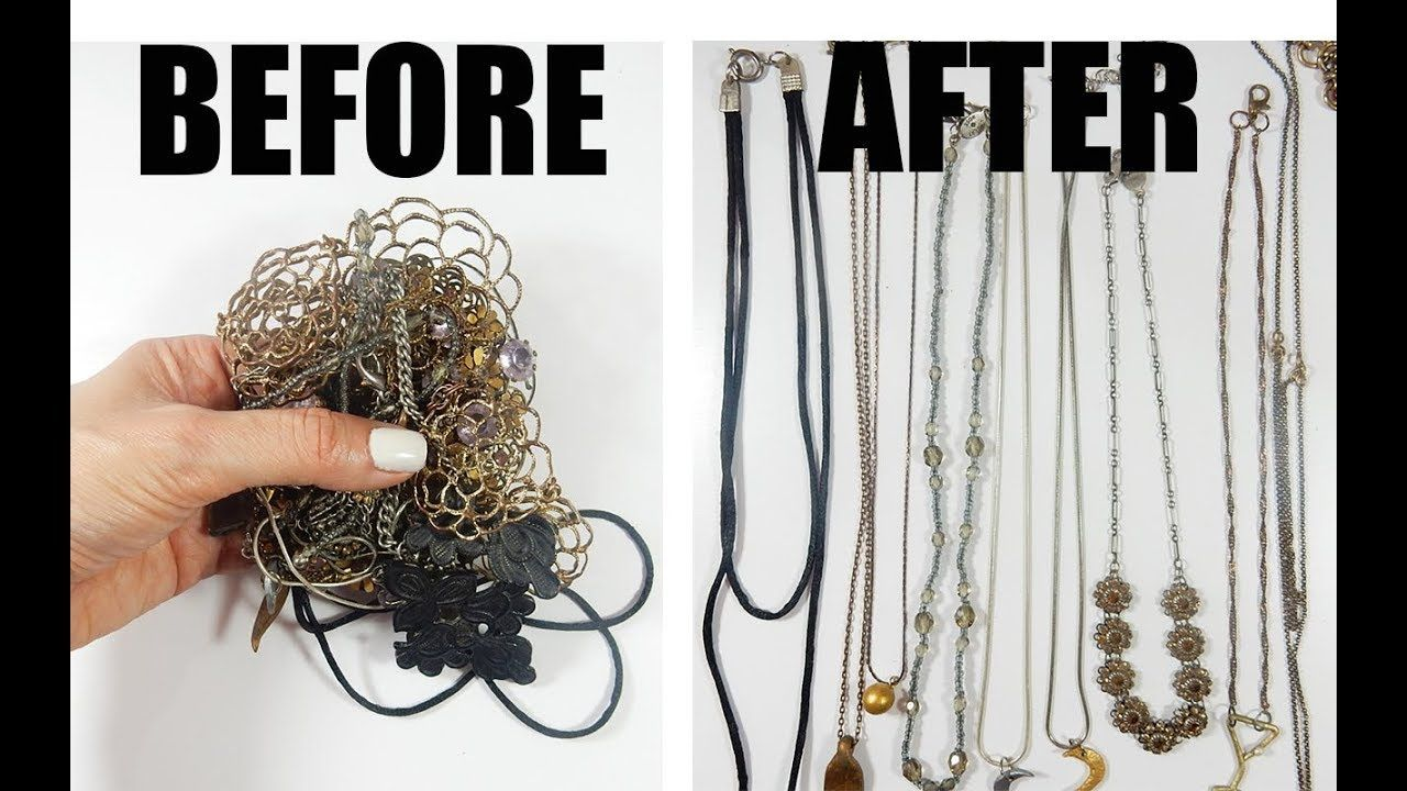 Jewelry Hack How to untangle multiple chain necklaces