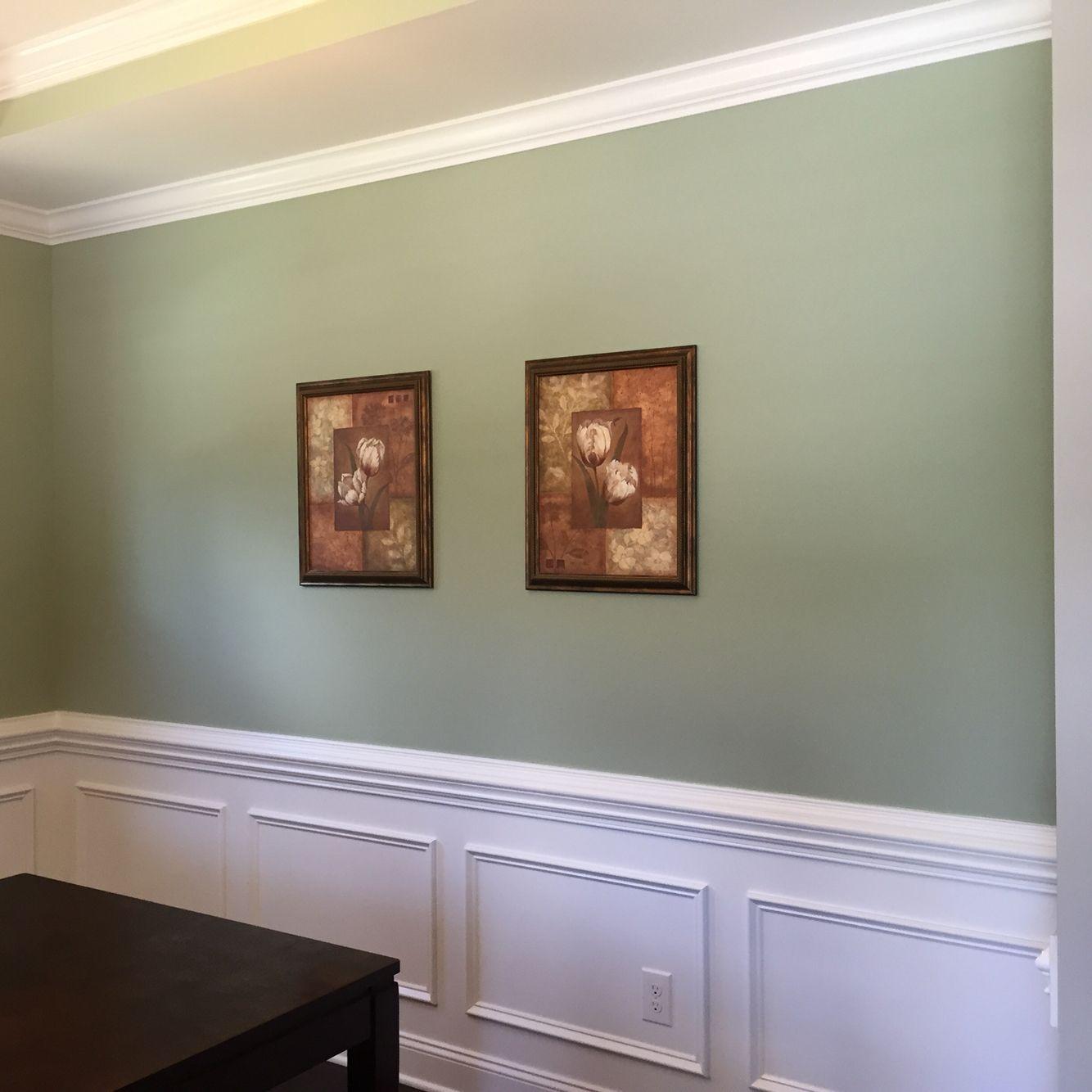 Benjamin Moore Salisbury Green Green Dining Room Green Wall