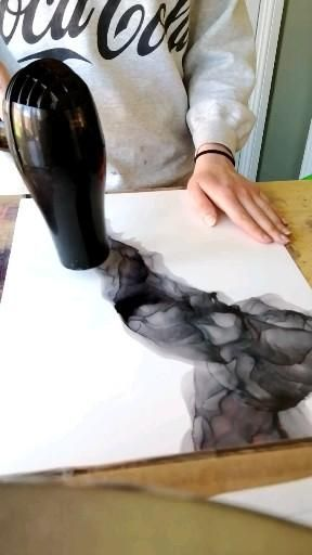 Ember Bloom Art time-lapse. Alcohol inks