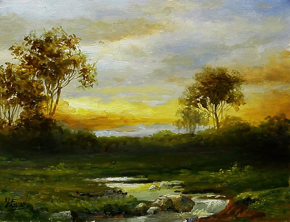 Painting Landscape Oil On Paper By Yasser Fayad Landscape Paintings Oil Painting Landscape Painting