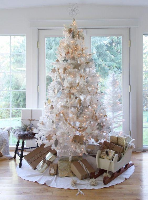Decoraci n de arbolitos navide os 2016 blancos christmas for Decoracion christmas navidenos