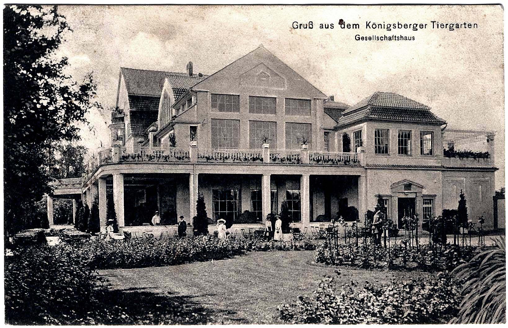 Königsberg Pr.   Tiergarten,  Gesellschaftshaus