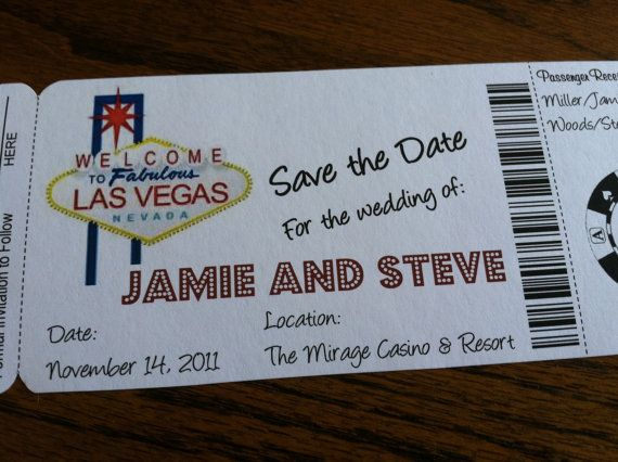 Las Vegas Theme Boarding Pass Invitation or by alisamariedesigns, $25.00