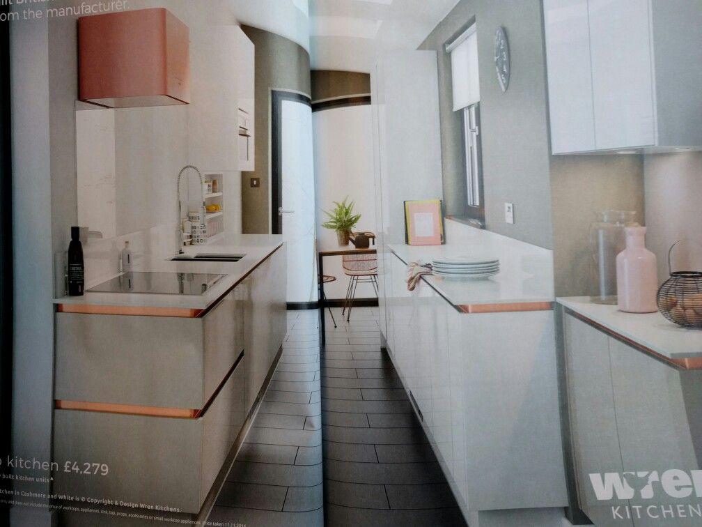 White Gloss Kitchen Gold Handles