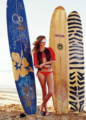 """Surfer Girl"" ELLE Spain May 2014"