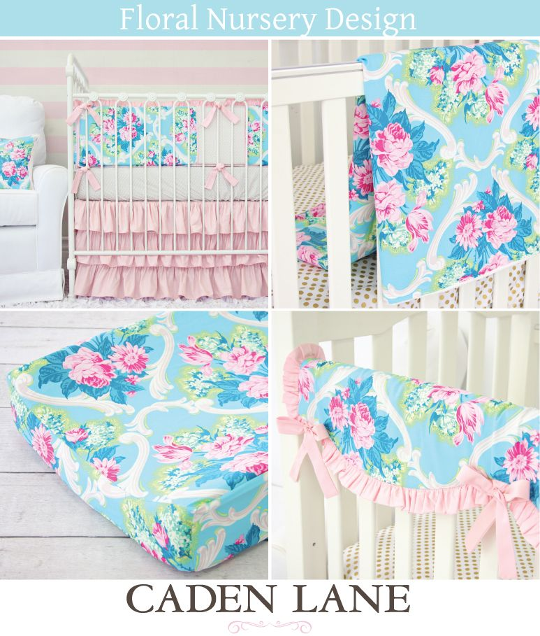 Floral Nursery Design Inspiration Floral Baby Bedding Baby Bed