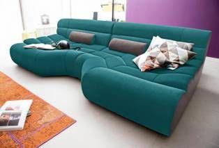 Trendmanufaktur Trendmanufaktur Mega Sofa Grün Petrolschlamm