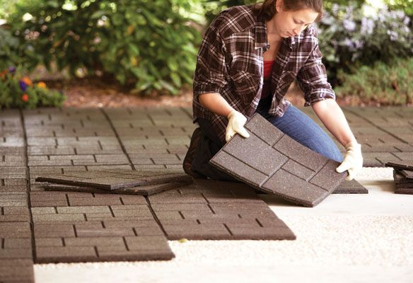 Beautify Your Patio And Be Eco Friendly At The Same Time Envirotile Products Divert Over 2 5 Million Tires From Landfills