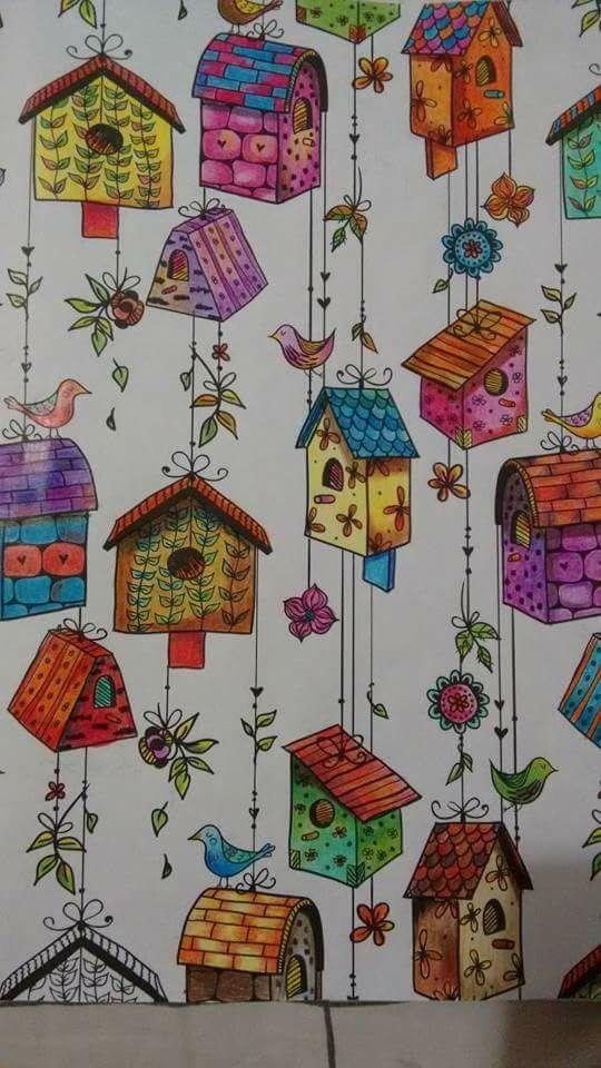 Birdhouse Coloring Book