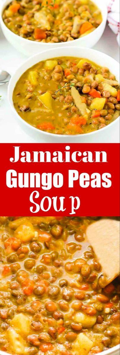 jamaican gungo peas soup pigeon peas vegan  healthier