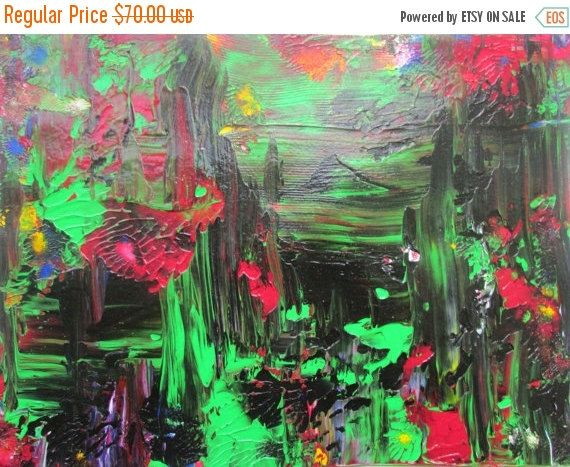 Art on Sale Outer Limits Original Abstract Acrylic by rostudios