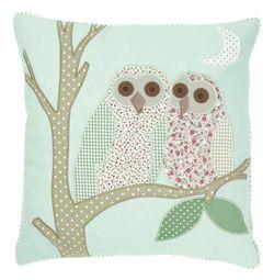 owl applique cushion by laura ashley