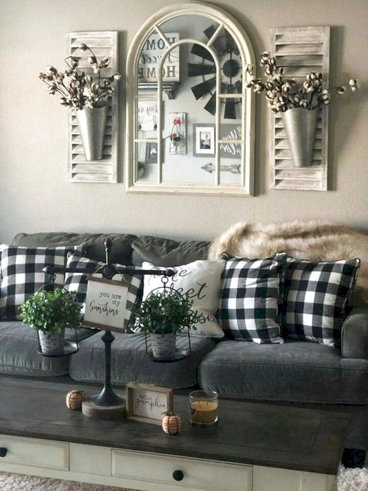 101 Best Farmhouse Living Room Decoration Ideas Home Garde