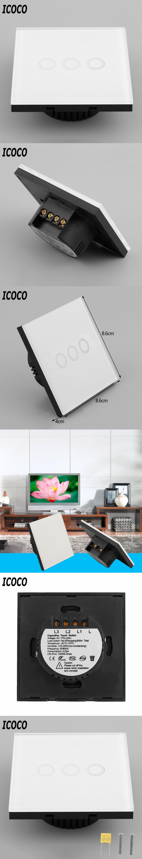 Eu Plug 1 2 3 Circuit Touch Screen Switch Gang Remote Electronic Design Circuits