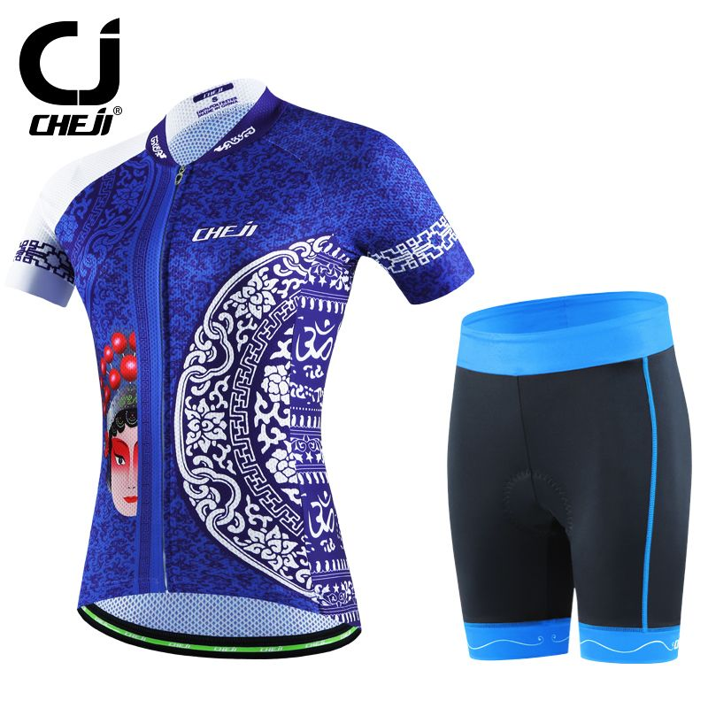 Women/'s Cycling Jersey Shirt Short Sleeve Sets Bike Suits Clothing Bicycle Top