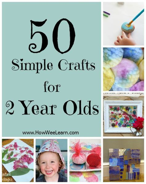 50 simple crafts for 2 year olds! These crafts focus on the process and are meant for two year olds to do all on their own. Independent toddler crafts!