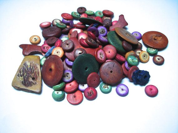 Wood and coconut shell bead mix by allthatglittersbeads on Etsy, $1.99