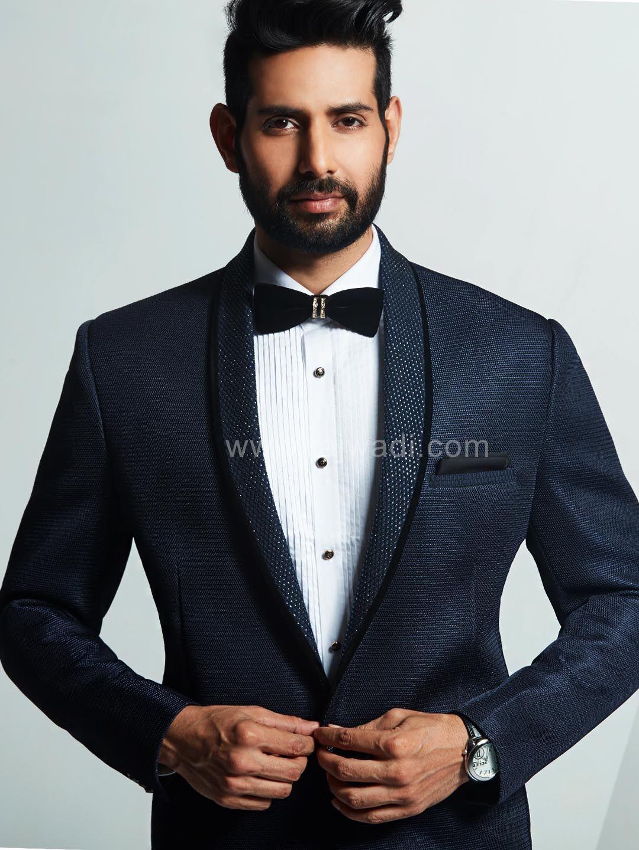 Navy Blue Wedding Suit # Rajwadi #menswear #suit # FeelRoyal ...