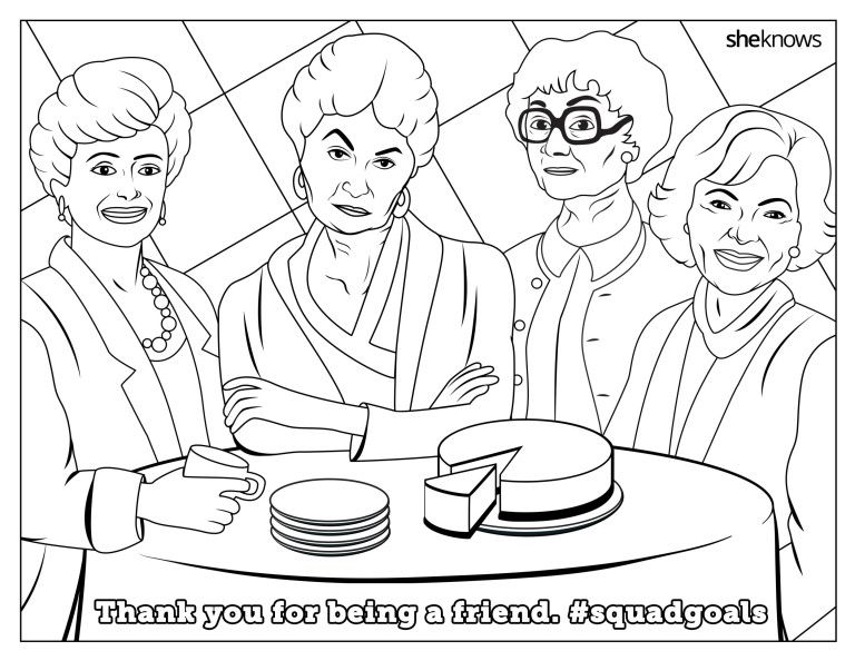 """This """"Golden Girls"""" Printable Coloring Page Is Everything"""