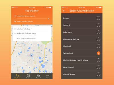 Sunrail Redesign Concept Trip Planner Travel Planner Planner Trip