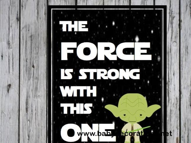 The Force is Strong with This One- Star Wars Quote, Star Wars Nursery, Star Wars Baby Gift, Nursery Art, Available as digital - http://www.babydecorations.net/the-force-is-strong-with-this-one-star-wars-quote-star-wars-nursery-star-wars-baby-gift-nursery-art-available-as-digital.html