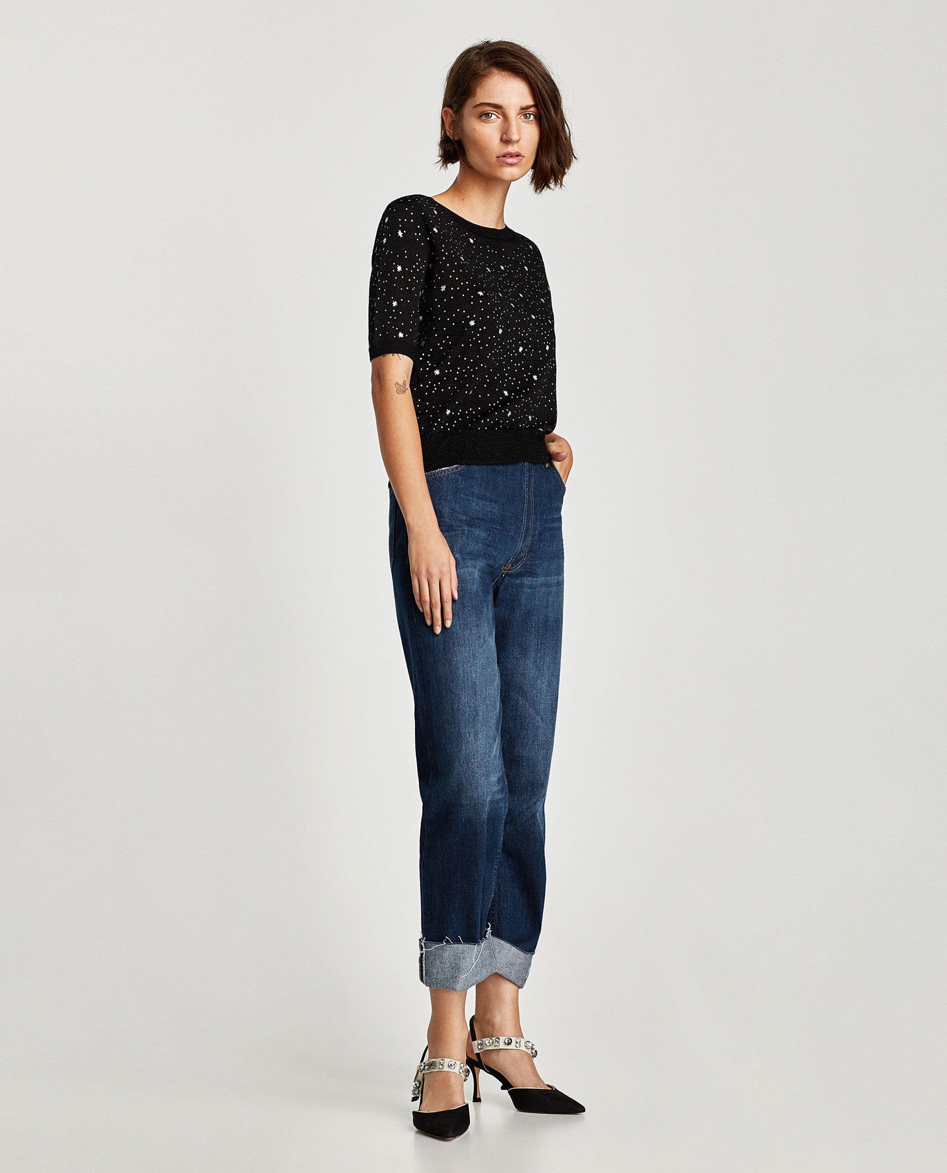 JERSEY MANGA CORTA ESTAMPADO   Fashion - Zara SS FW15   Pinterest ... 4b500594b0c