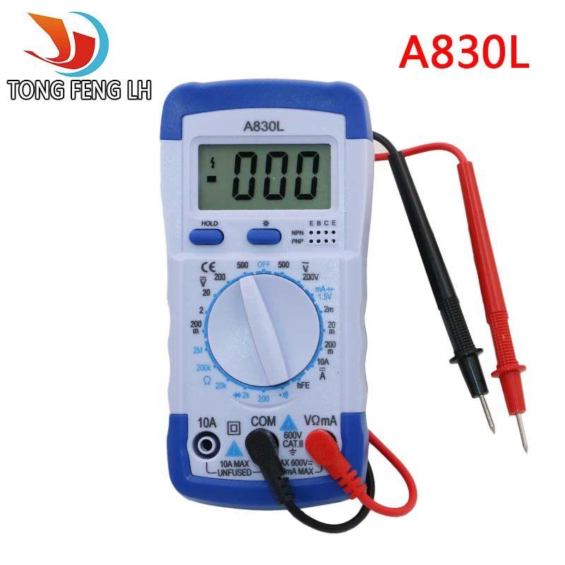 A830L LCD Digitale Multimeter DC AC Voltage Diode Freguency Multitester Volt Tester Test Stroom