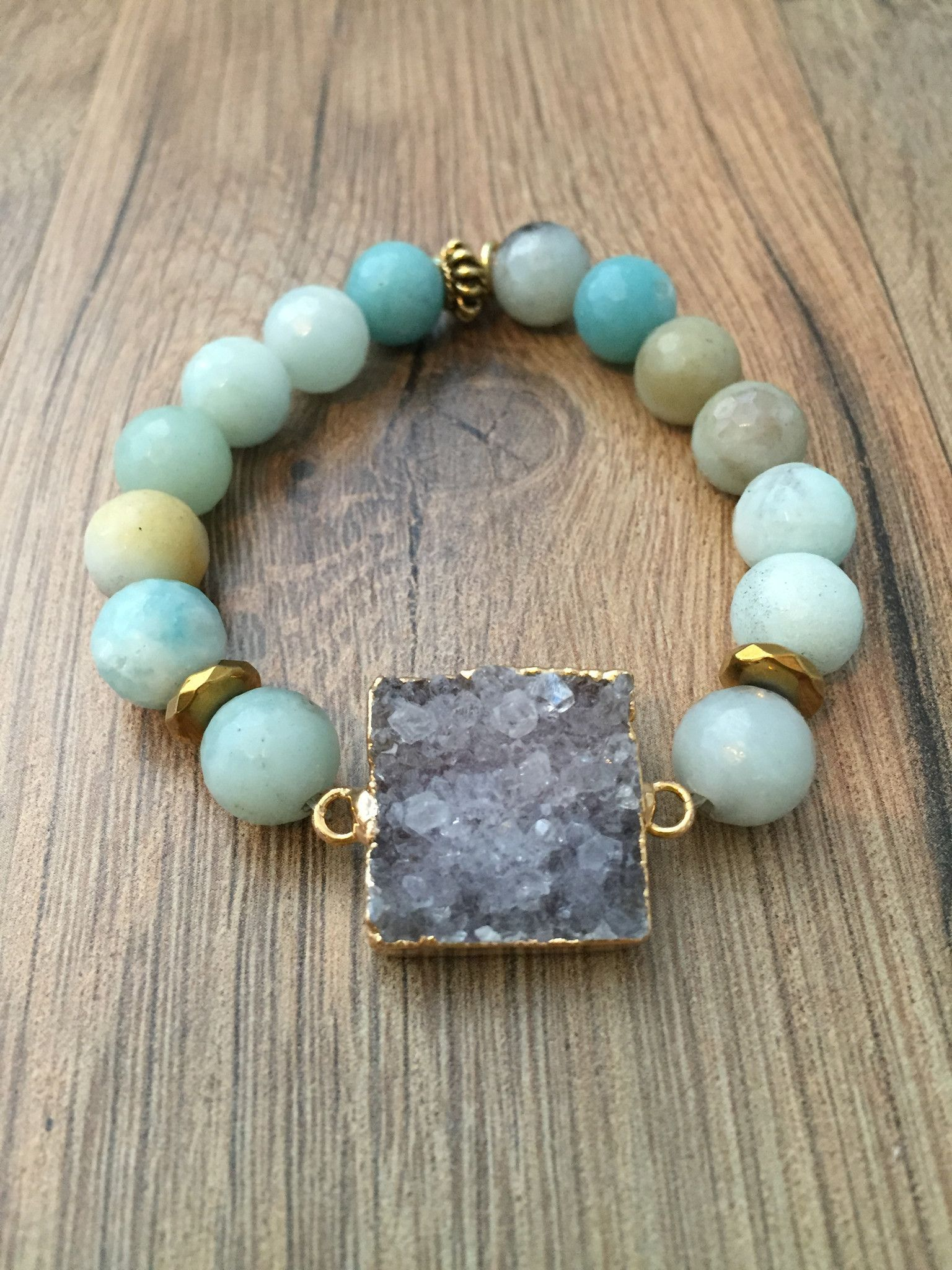 Druzy Stone Bracelet                                                                                                                                                                                 More