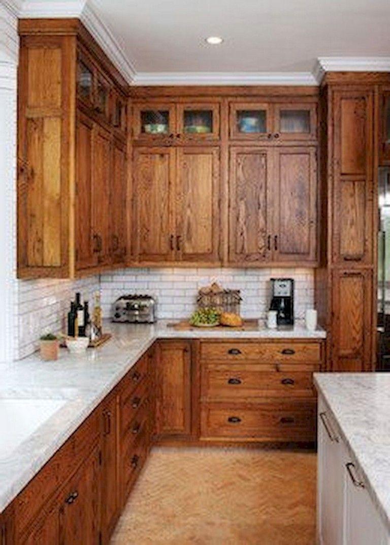 105+ Top Oak Kitchen Cabinets Ideas Decoration For ... on Rustic:yucvisfte_S= Farmhouse Kitchen Ideas  id=93529