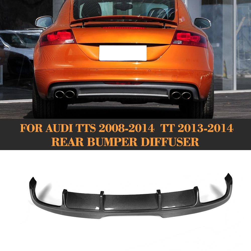 Carbon Fiber Auto Car Rear Bumper Diffuser Lip For Audi Tts Bumper