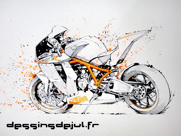 Ktm Rc8 R By Dessinsdejul Deviantart Com On Deviantart Ktm