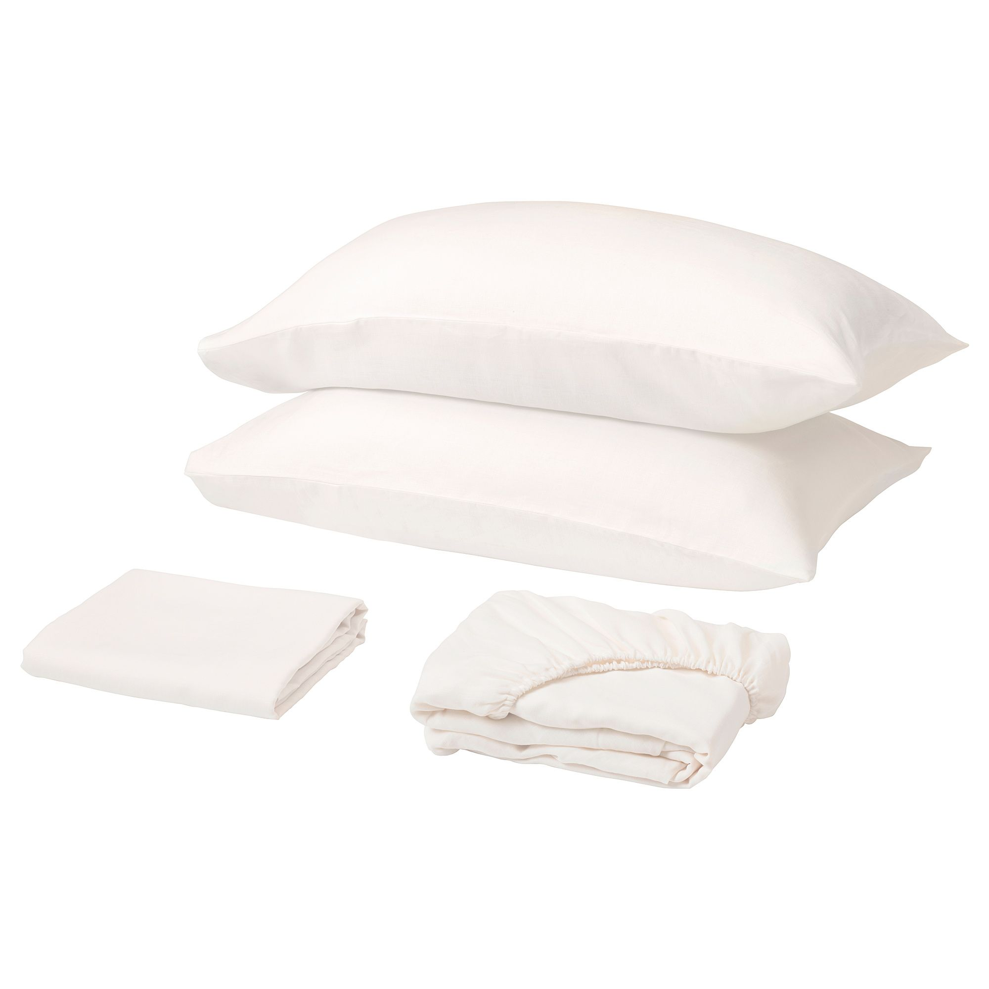 Ikea Puderviva Sheet Set White