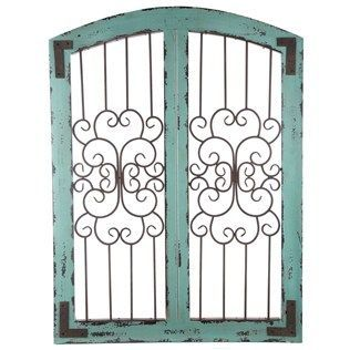 iron and wood gate above the mantle - Google Search | Wood ... on Hobby Lobby Outdoor Wall Decor Metal id=99380