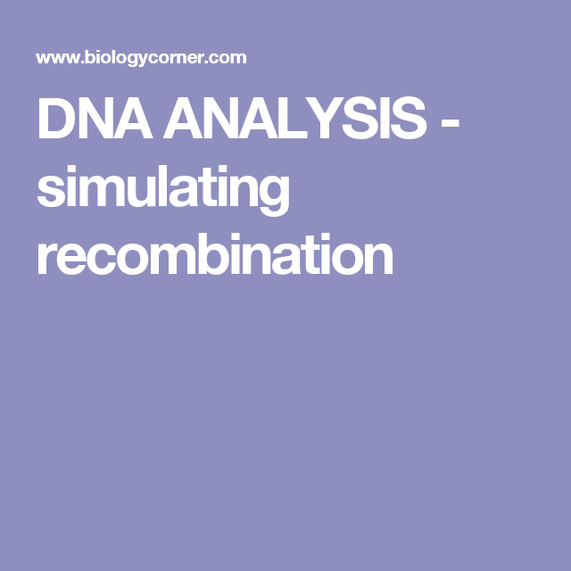 Dna analysis simulating recombination dna pinterest dna analysis simulating recombination ibookread Read Online