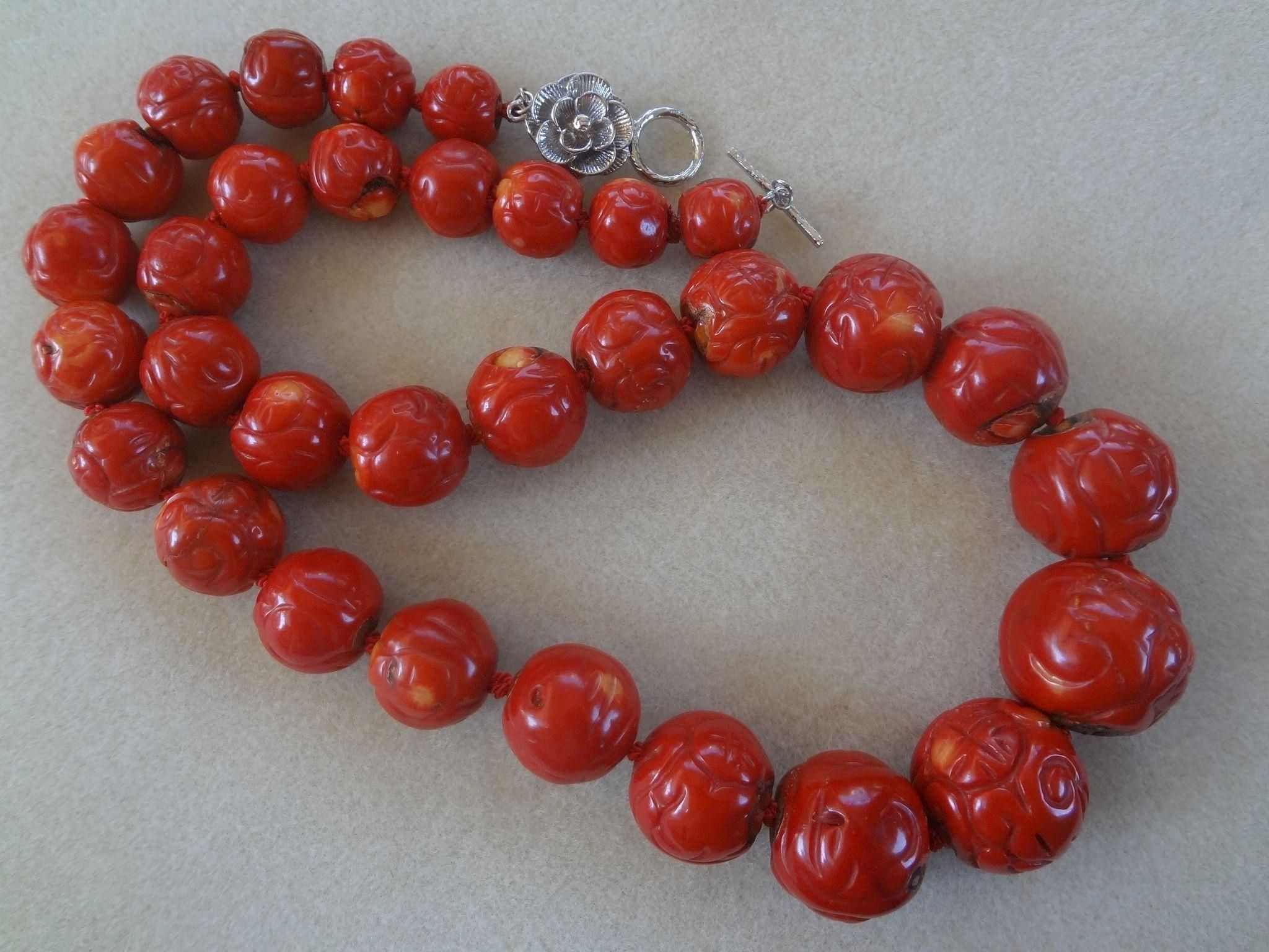 Bracelet and Earrings Set Stunning 8mm Natural Red Coral Necklace Presented in A Beautiful Jewellery Gift Box