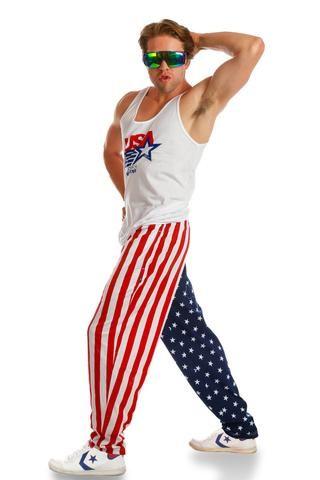 Rex Kwon Do American Flag Hammer Pants Shinesty American Flag Clothes Usa Outfit Rex Kwon Do