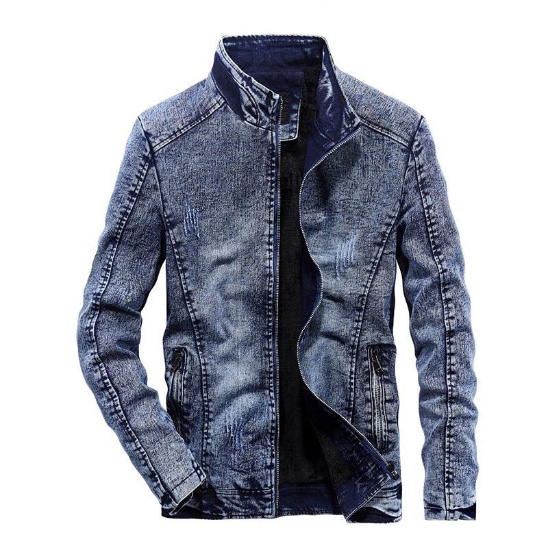 Denim Jackets Thick Fleece Patchwork Motor Jackets Fitted Denim Jacket Jackets Coats N Jackets