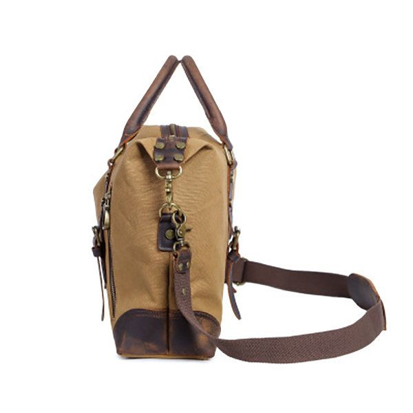 Brown Outdoor Leisure Climb Backpack Simple Retro Zippered Canvas Chest Shoulder Bag Messenger Bag Color Portable and Comfortable,
