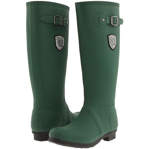 Kamik Jennifer (Green/Black Sole) Women's Rain Boots ($33) ❤ liked