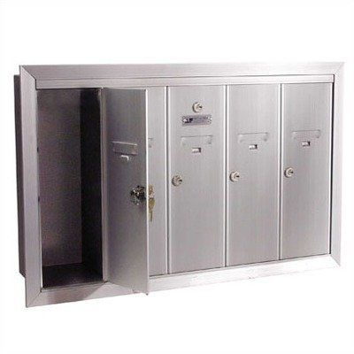 1250 Series Vertical Mailbox Unit Number Of Compartments 7 Seven Color Aluminum Anodized By Florence Mailboxe Home Safety Locker Storage Cluster Mailboxes