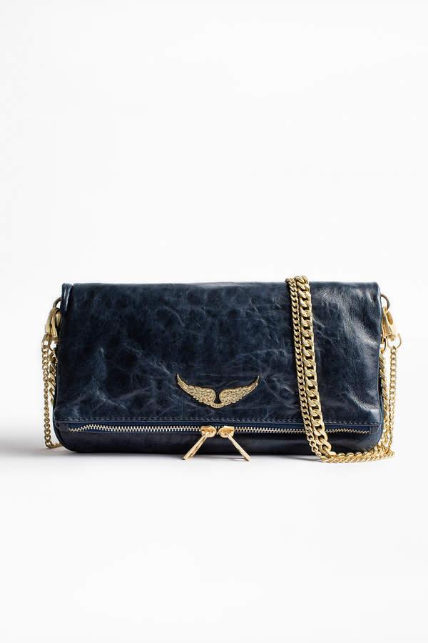 Rock Crush Clutch Bag In 2021 Clutch Bag Zadig And Voltaire Blue Leather Clutch